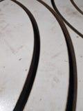 Círculo futurista, recorte del recorte del laser del acero inoxidable de la forma Foto de archivo libre de regalías