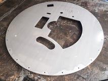 Círculo futurista, recorte del recorte del laser del acero inoxidable de la forma Fotos de archivo libres de regalías