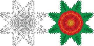Círculo geométrico Modelo del ornamento para la terapia del arte Fotografía de archivo libre de regalías