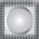 Círculo gris metálico para el fondo, ejemplo eps10 del vector Foto de archivo