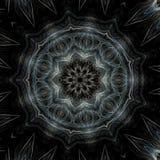 Círculo gris y azul del fractal ilustración del vector