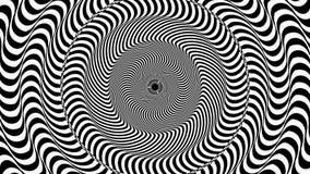 Círculo hipnótico abstraia o fundo video estoque