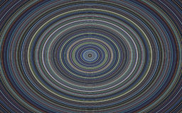 Círculo hipnótico, placa musical en fondo azul Imagen de archivo