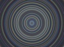 Círculo hipnótico, placa musical en fondo azul Fotografía de archivo libre de regalías