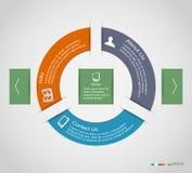 Círculo infographic Imágenes de archivo libres de regalías