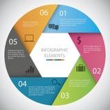 Círculo Infographic Foto de archivo libre de regalías