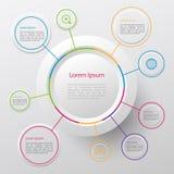 Círculo infographic stock de ilustración