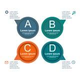Círculo infographic del negocio en diseño plano Disposición para sus opciones o pasos Imagen de archivo libre de regalías