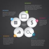 Círculo Infographic moderno Foto de archivo libre de regalías