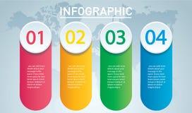 Círculo infographic Plantilla del vector con 4 opciones Puede ser utilizado para el web, diagrama, gráfico, presentación, carta,  ilustración del vector