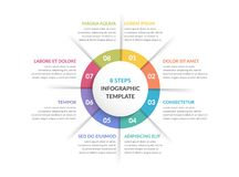 Círculo Infographics - ocho elementos Fotos de archivo libres de regalías