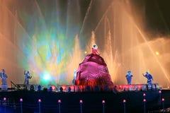 Círculo internacional de la demostración de la luz Foto de archivo