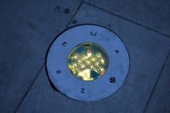 Círculo llevado solar del planeta en zadar Imágenes de archivo libres de regalías