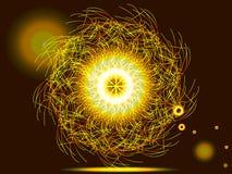 Círculo mágico da faísca Fotografia de Stock