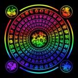 Círculo mágico da runa Ilustração do Vetor