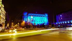 círculo militar nacional em Bucareste, Romênia Fotografia de Stock Royalty Free