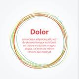 Círculo minimalistic da mão-tração do vetor. Molde abstrato ilustração stock