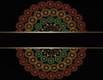 Círculo modelado das flores Fotos de Stock Royalty Free
