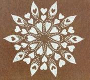 Círculo modelado formas plateadas dibujado mano del corazón Imagenes de archivo