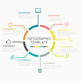 Círculo moderno del infographics Fotos de archivo libres de regalías