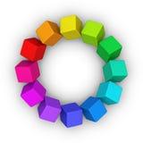 Círculo Multicolor dos cubos ilustração royalty free