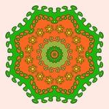 Círculo ornamentado em um fundo claro Imagem de Stock