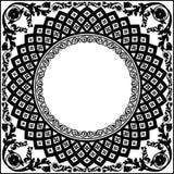 Círculo ornamental blanco negro Fotografía de archivo libre de regalías
