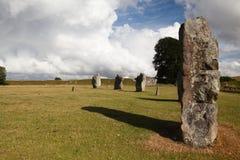 Círculo prehistórico de las piedras Fotografía de archivo