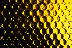 Círculo preto dourado textured Imagens de Stock Royalty Free