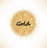 Círculo que brilla del oro en el fondo blanco Fotos de archivo libres de regalías