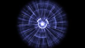 Círculo que pulsa azul ilustración del vector