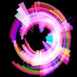 Círculo radioativo abstrato em um ângulo quadriculação Fotos de Stock
