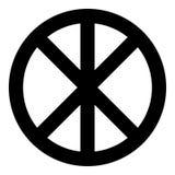 Círculo redondo cruzado en muestra del infinito de Cristo del cuerpo de las piezas del concepto del pan en estilo plano del icono libre illustration