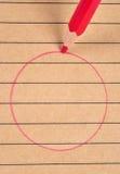 Círculo rojo. Fotografía de archivo