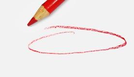 Círculo rojo Fotografía de archivo libre de regalías