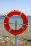 Círculo rojo del rescate Imagen de archivo libre de regalías