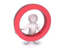 círculo rojo humano 3D Stock de ilustración