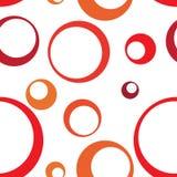 Círculo rojo Ring Seamless Pattern Background Imagen de archivo libre de regalías