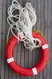 Círculo seguro con la cuerda. Fotos de archivo