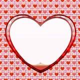Círculo sem emenda do cartão do amor Ilustração Royalty Free