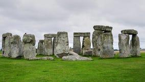 Círculo sem povos, fim de Stonehenge acima imagens de stock royalty free