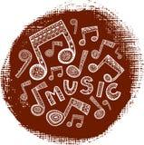 Círculo Textured da música ilustração stock