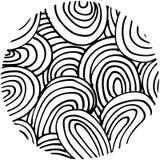 Círculo tirado do teste padrão da garatuja mão abstrata dado forma Imagem de Stock