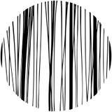 Círculo tirado do teste padrão da garatuja mão abstrata dado forma Fotografia de Stock Royalty Free
