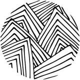Círculo tirado do teste padrão da garatuja mão abstrata dado forma Fotos de Stock