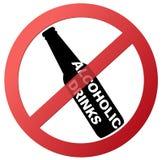 Círculo vazio nenhum sinal vermelho bebendo da proibição Fotografia de Stock Royalty Free