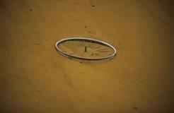 Círculo velho da bicicleta Foto de Stock Royalty Free