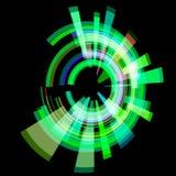 Círculo verde abstrato em um ângulo quadriculação Imagem de Stock