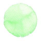 Círculo verde de la acuarela Mancha con la textura de papel libre illustration