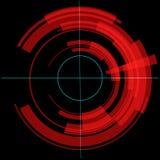 Círculo vermelho da tecnologia quadriculação Imagens de Stock Royalty Free